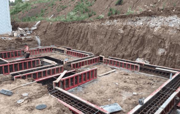 Полная подготовка для принятия бетона под заливку ростверков