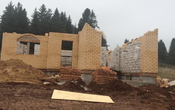 Строительство дома (газоблок+облицовочный кирпич)