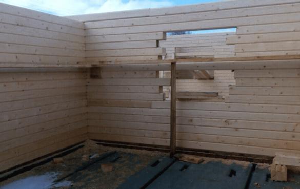 Стены из профилированного бруса изнутри дома