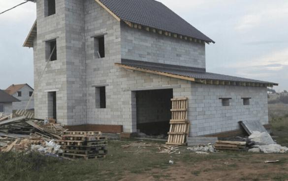 Готовая «коробка» дома с изменениями, по пожеланию заказчика, базового проекта «ГНОМ» (ПЗСП)