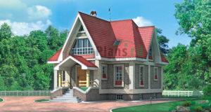 Проект деревянного дома 10-72