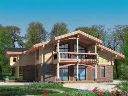 Проект деревянного дома 12-66