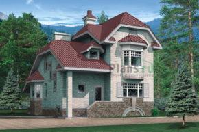 Проект кирпичного дома 32-70