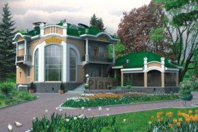 Проект кирпичного дома 32-77