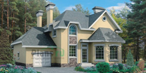 Проект кирпичного дома 32-96