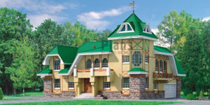 Проект кирпичного дома 33-19