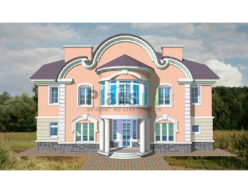 Проект кирпичного дома 34-09