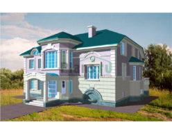 Проект кирпичного дома 34-11