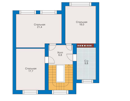 изображения проекта кирпичного дома 34-65