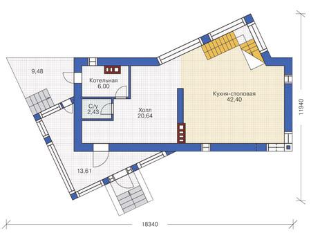 изображения проекта кирпичного дома 36-54