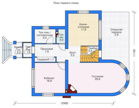 изображения проекта кирпичного дома 36-68