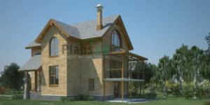 Проект кирпичного дома 36-69