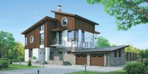Проект кирпичного дома 37-74