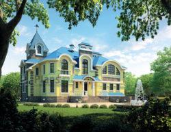 Проект кирпичного дома 38-71