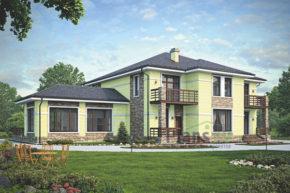 Проект кирпичного дома 39-52