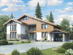 Проект кирпичного дома 39-65