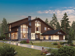 Проект кирпичного дома 41-17