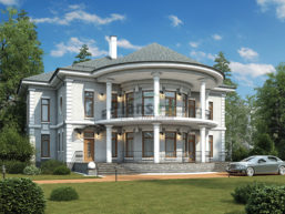 Проект кирпичного дома 42-50