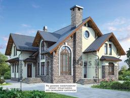 Проект кирпичного дома 43-14