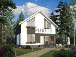 Проект кирпичного дома 43-22