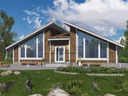 Проект кирпичного дома 43-66