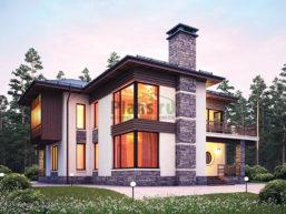 Проект кирпичного дома 43-90