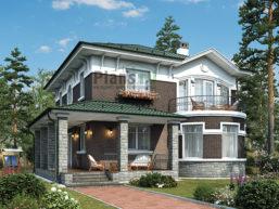 Проект кирпичного дома 43-97