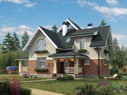 Проект кирпичного дома 44-59
