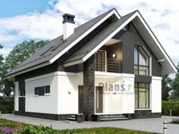 Проект кирпичного дома 45-53