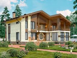 Проект кирпичного дома 45-60