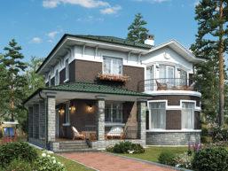 Проект кирпичного дома 46-24