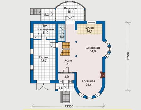 изображения проекта дома из пеноблоков 50-66