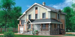Проект дома из пеноблоков 51-22