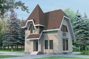 Проект дома из пеноблоков 51-52