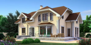 Проект дома из пеноблоков 52-73