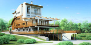 Проект дома из пеноблоков 53-72