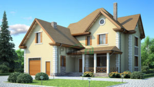 Проект дома из пеноблоков 53-76