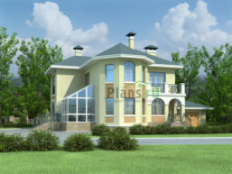 Проект дома из пеноблоков 54-11