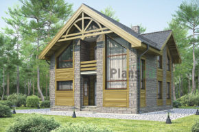 Проект дома из пеноблоков 54-17