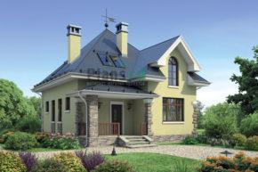 Проект дома из пеноблоков 55-37