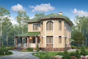 Проект дома из пеноблоков 57-13
