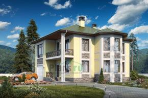 Проект дома из пеноблоков 57-37