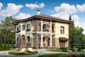 Проект дома из пеноблоков 57-63