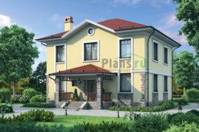 Проект дома из пеноблоков 57-94