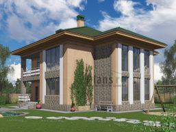 Проект дома из пеноблоков 58-29