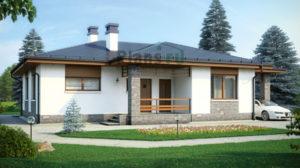 Проект дома из пеноблоков 58-35