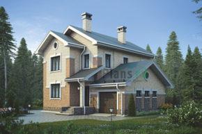 Проект дома из пеноблоков 58-46