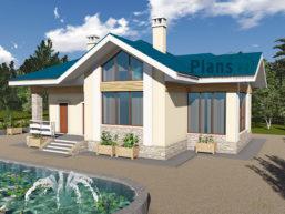 Проект дома из пеноблоков 60-21