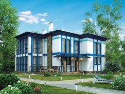 Проект дома из пеноблоков 60-43