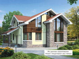 Проект дома из пеноблоков 60-45
